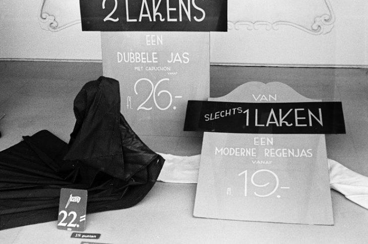 foto - NAALD EN DRAAD-Menno Huizinga etalage lakens...